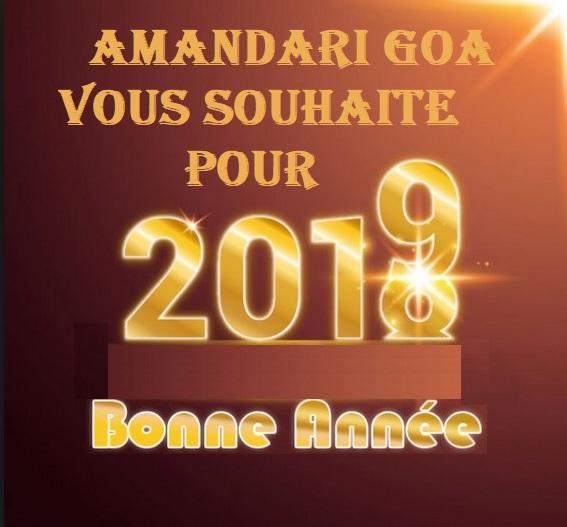 Voeux bonne annee 2019 amandari goa
